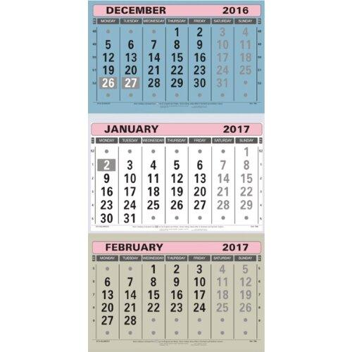 3 months at a glance calendar