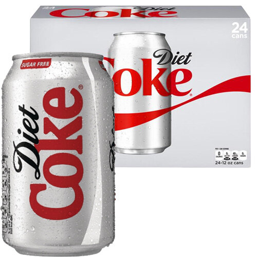 Coca Cola Diet Coke Soft Drink Can 330ml Ref A00749 [Pack 24] 507583