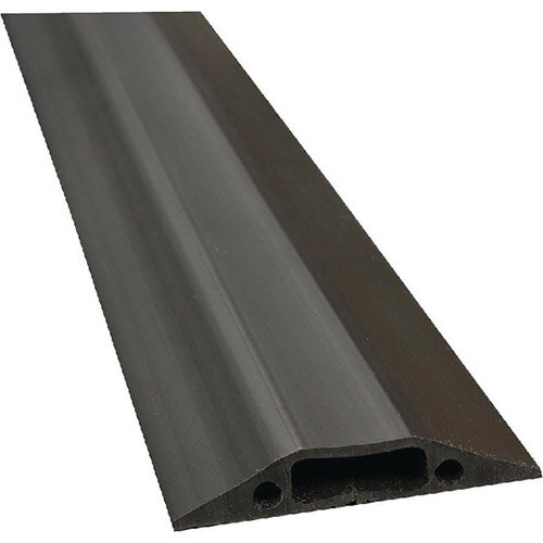 lrb floor cable cover black 80mm wide 1 8m length c w connectors fc83b. Black Bedroom Furniture Sets. Home Design Ideas
