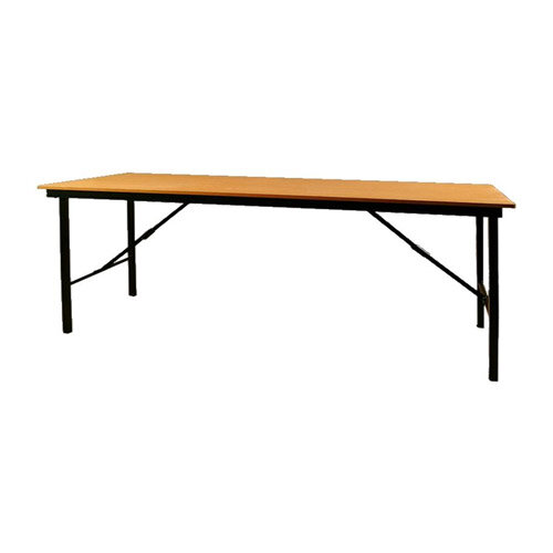 Folding Trestle Table With Beech Top Black Frame Collapsible Legs This Maintains A Fully Welded Construction For Sy Durability When In Use