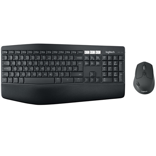 Logitech MK850 Keypad & Mouse Wireless Bluetooth Optical 1000 dpi 8 Button  Scroll Wheel QWERTY Symmetrical AA AAA Compatible with Computer Cellular