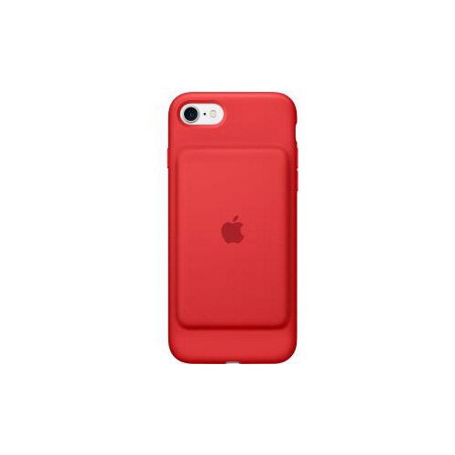 online store 18607 877bb Apple Smart Battery Case for iPhone 7 Red Silky Silicone MicroFiber