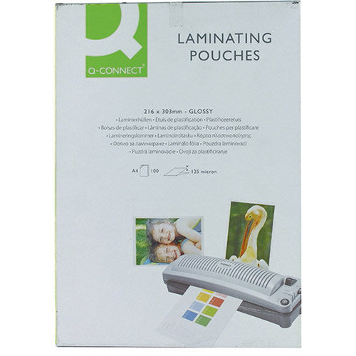 Q Connect Laminating Pouches A4 250 Microns Pack Of 100