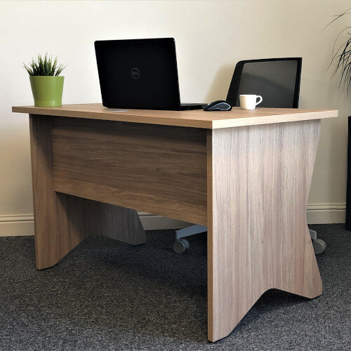Medici Home Office Desk Urban Oak W1200xD700mm Additional Image 6