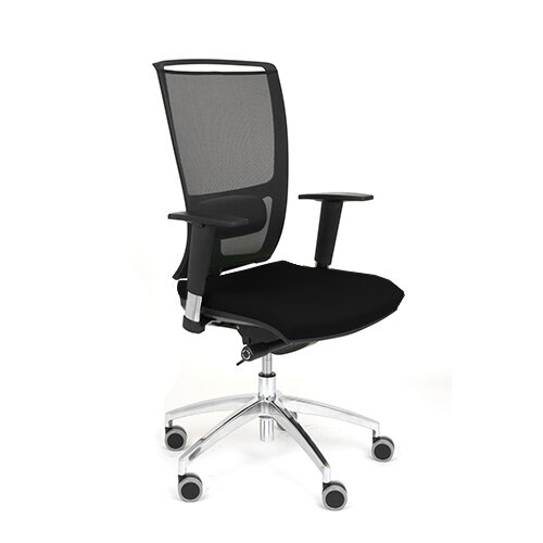 ergonomic mesh task operator office chair with lumbar support adjustable arms black oz series. Black Bedroom Furniture Sets. Home Design Ideas