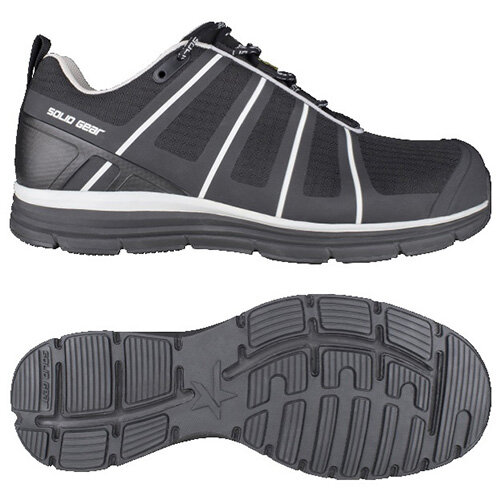 Snickers Evolution Black Work Shoes