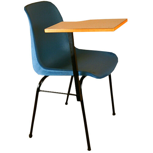 Heywoodite school chair with writing arm