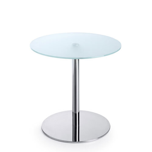 Round Glass Coffee Table D600xH600 Round Base