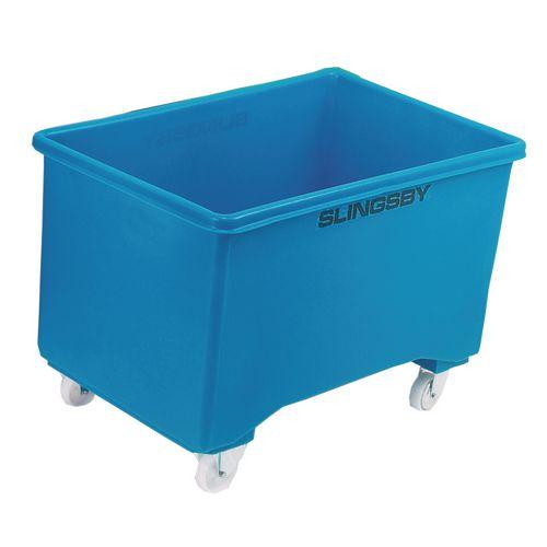 Box Mobile Pallet Blue 927X584X508mm 2F+2Swx102 Ny+Tg