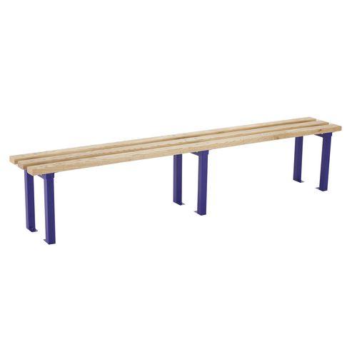 2400mm Length Bench Seat Blue Frames 3No Ash Hardwood Slats ...