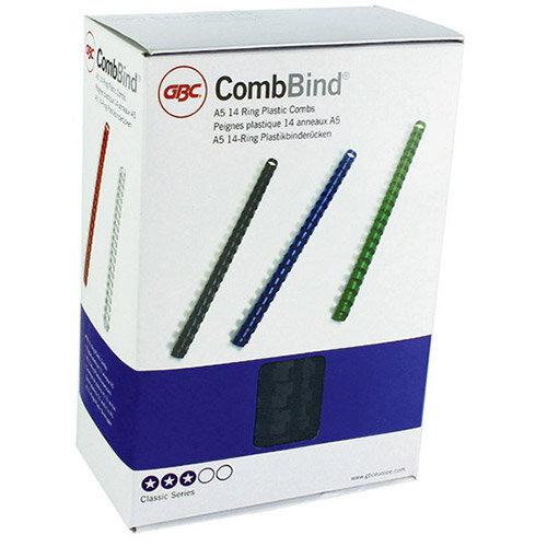 GBC Binding Comb A5 12mm Black Pack Of 100 4400010