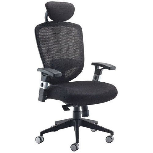 arista mesh high back task operator office chair with headrest black