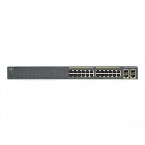 Cisco Catalyst 2960-Plus 24TC-S - Switch - Managed - 24 x 10/100 + 2 x  combo Gigabit SFP - rack-mountable
