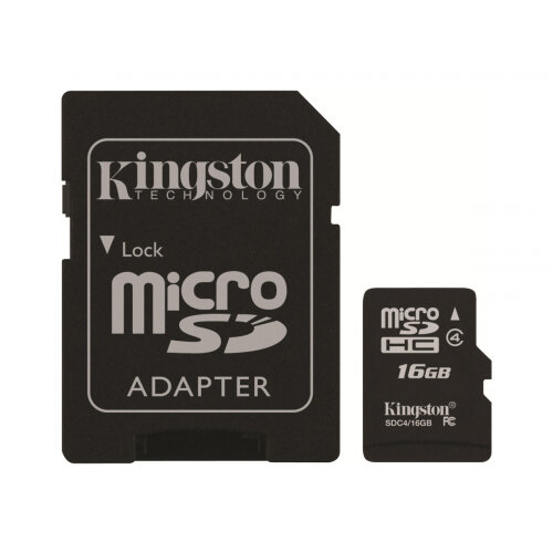 Kingston Memory 16GB MicroSDHC Class 4 Flash Card – Protective Features,  Minimum Data Transfer Rate 4MB/s, Warranty, Compatible With