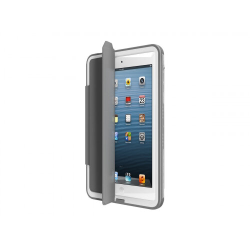 release date a0ea0 00be0 LifeProof Fre Portfolio - Flip cover for tablet - leatherette - grey - for  Apple iPad mini; iPad mini 2