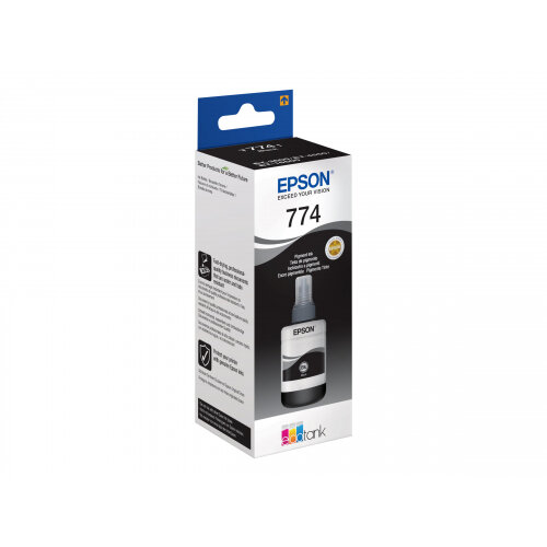 Epson T7741 Pigment Black EcoTank Ink Refill - Lasts for 2 years - Works  With Epson EcoTank ET-4550 - C13T774140
