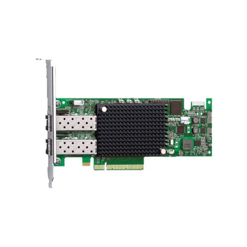 Dell Emulex LPE-16002 - Host bus adapter - PCIe 2 0 x8 low profile - 16Gb  Fibre Channel x 2 - for PowerEdge R520, R620, R715, R720, R815, R820