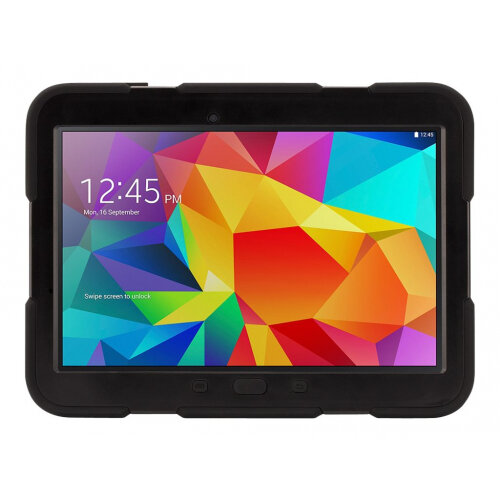 check out d885c 609df Griffin Survivor - Protective case for tablet - silicone, polycarbonate -  black - for Samsung Galaxy Tab 4 (10.1 in)