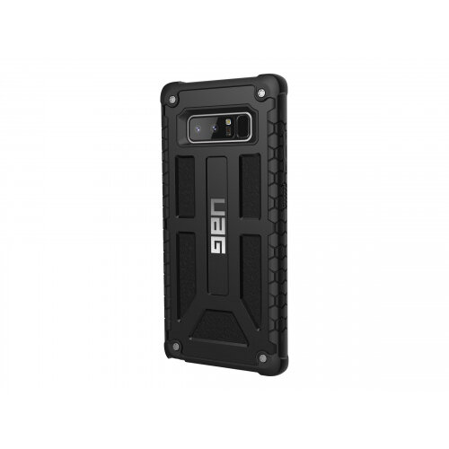 san francisco af401 f17e8 UAG Monarch Series Rugged Case for Samsung Galaxy Note 8 - Back cover for  mobile phone - polycarbonate, rubber, top-grain leather, alloy metal -  black ...