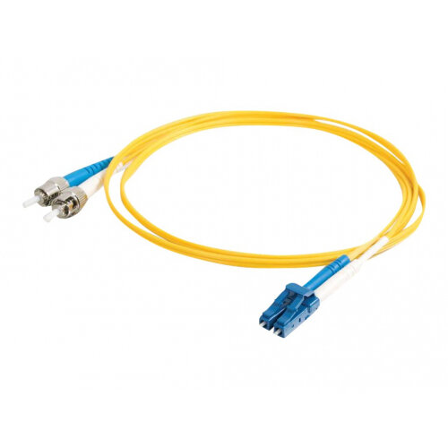 LSZH Yellow C2G 5m SC-ST 9//125 OS1 Duplex Singlemode PVC Fibre Optic Cable