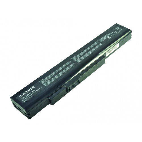 2-Power Main Battery Pack - Laptop battery - 1 x Lithium Ion 8-cell 5200  mAh - black - for MSI A6400