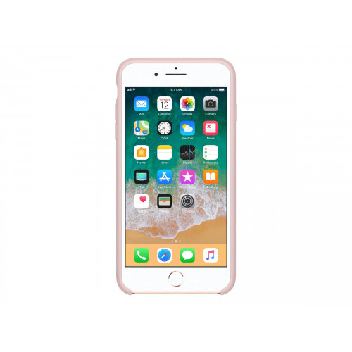 premium selection afc3c 9c486 Apple - Back cover for mobile phone - silicone - pink sand - for iPhone 7  Plus, 8 Plus