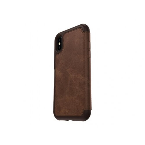 the latest fce47 fba67 OtterBox Strada Series Folio Apple iPhone X - Limited Edition - flip cover  for mobile phone - leather, polycarbonate - espresso - for Apple iPhone X