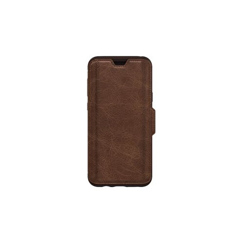 buy popular 4b9c2 8e17d OtterBox Strada Series Folio - Flip cover for mobile phone - leather,  polycarbonate - espresso brown - for Samsung Galaxy S9+