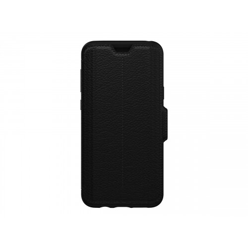 pretty nice bc09e af15e OtterBox Strada Series Folio - Flip cover for mobile phone - metal,  leather, polycarbonate - shadow black