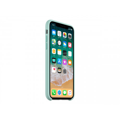 buy online 1ea36 4d1ca Apple - Back cover for mobile phone - silicone - marine green - for iPhone X