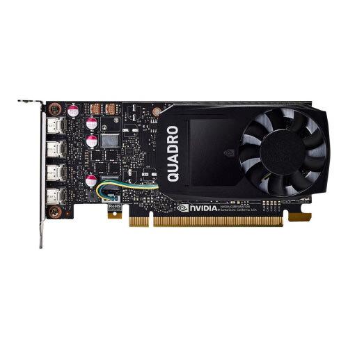 NVIDIA Quadro P1000 - Graphics card - 1 GPUs - Quadro P1000 - 4 GB GDDR5 -  PCIe 3 0 x16 low profile - 4 x Mini DisplayPort - for Workstation Z240