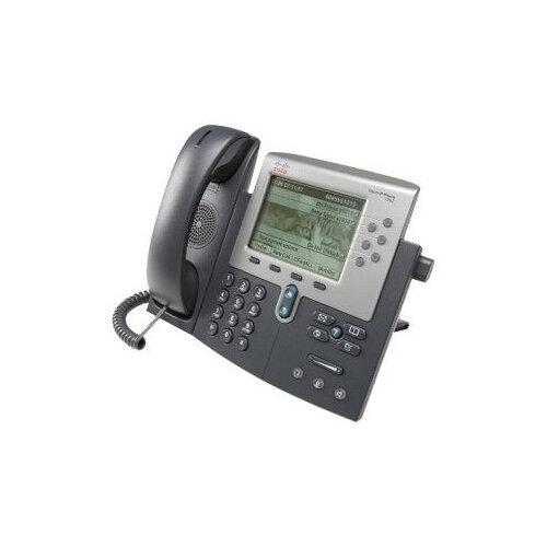 Cisco Unified IP Phone 7962G - VoIP phone - SCCP, SIP - silver, dark grey -  refurbished