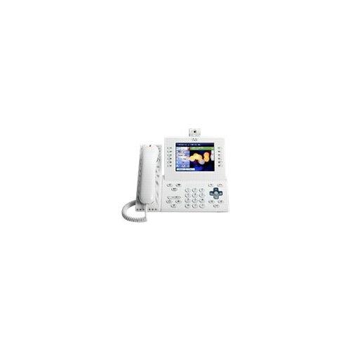 Cisco Unified IP Phone 9971 Slimline - IP video phone - IEEE 802 11b/g/a  (Wi-Fi) - SIP - multiline - arctic white