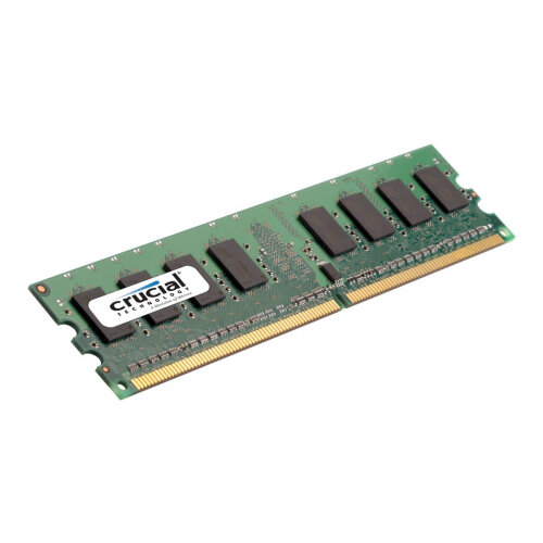 Crucial - DDR2 - 1 GB - DIMM 240-pin - 800 MHz / PC2-6400 - CL6 - 1 8 V -  unbuffered - non-ECC - for ASRock 4CoreN73, ALiveNF7G