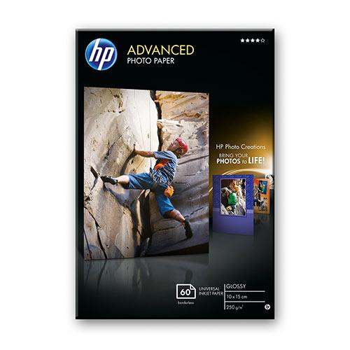 Hp Advanced Glossy Photo Paper Glossy 105 Mil 100 X 150 Mm