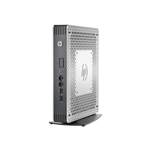 HP Flexible t610 - Thin client - tower - 1 x G-T56N 1 65 GHz - RAM 4 GB -  flash 16 GB - Radeon HD 6320 - GigE - Win Embedded Standard 7E - monitor: