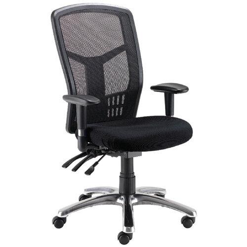 avior 24 hour high back mesh task operator office chair black 09hd05. Black Bedroom Furniture Sets. Home Design Ideas
