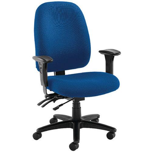 avior heavy duty high back chair with lumbar blue kf72249