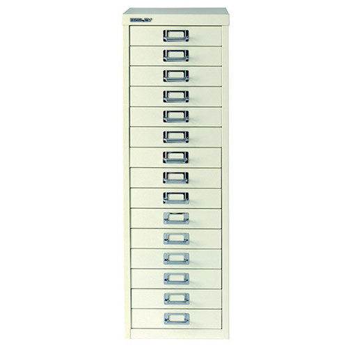 Bisley Multi-Drawer Cabinet 39 inches A4 15 Drawer White ...