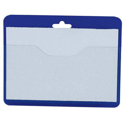 Durable security visitor badge without clip 60x90mm pack for Porte badge 60 x 90