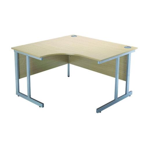 Jemini 1200mm Radial Left Hand Cantilever Desk Warm Maple