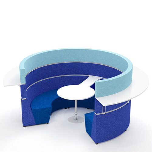 Hive Circular Meeting Pod With Workshelf Hunt Office Ireland