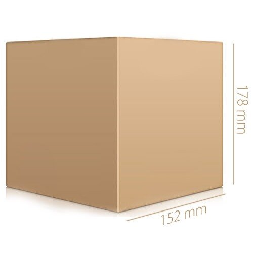 Ambassador Packing Box Carton Single Wall Strong Flat-packed 152x152x178mm Internal Pack 25