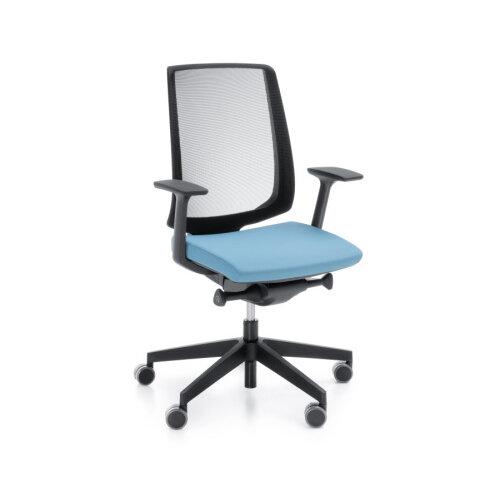 Lightup Modern Design Ergonomic Mesh Office Chair Sky Blue Fabric