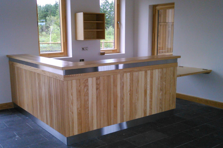 Lough Boora Rectption Desk