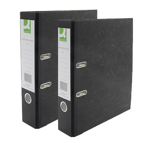 Q-Connect KF20019 A4 Lever Arch Files Polypropylene Black