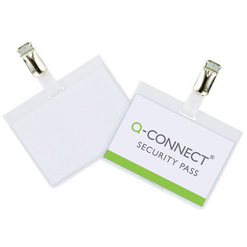 Q connect security badge 60x90mm pack of 25 kf01562 for Porte badge 60 x 90
