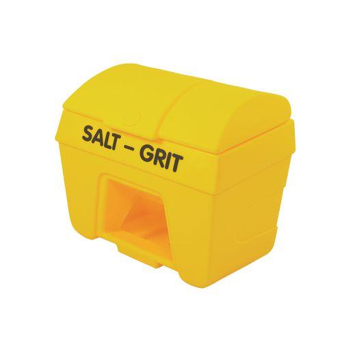 200L Heavy Duty Plastic Salt & Grit Bin With Hopper Feed 200L Capacity