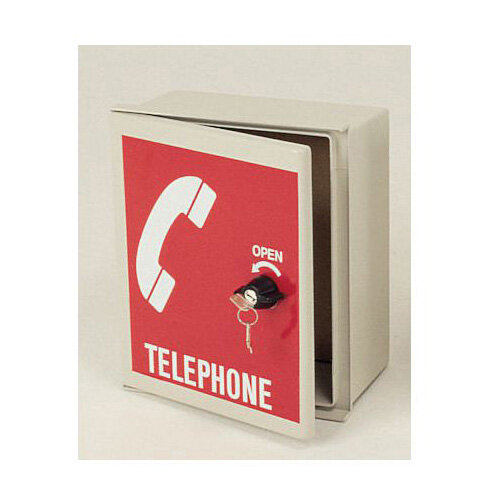 Small Telephone Cabinet Red Door With White Logo Huntoffice Ie