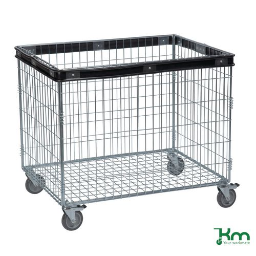 Wire Basket Cart | Electro Galvanised Wire Basket Truck Rectangular With Buffering